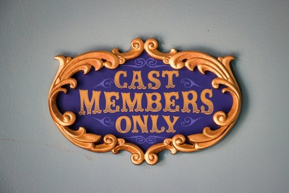 Cast Members sign