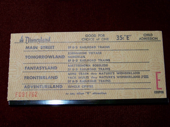 Disneyland E ticket