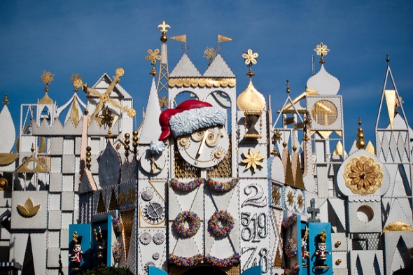 """it's a small world"" holiday entrance"