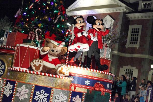 Christmas parade at Magic Kingdom