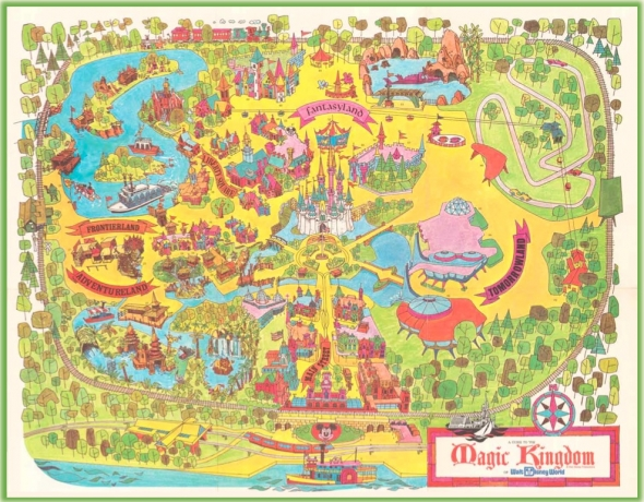 Disneyland vintage guide map