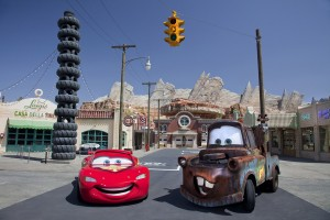 Cars Land Mater and Lightning McQueen
