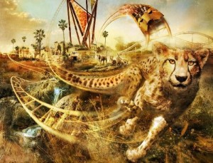 Cheetah Hunt concept art