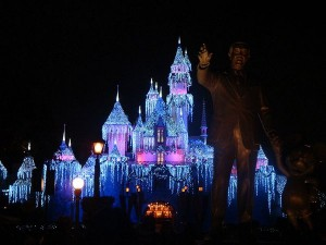 Disneyland Sleeping Beauty Castle at Christmas