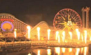 World of Color fire testing