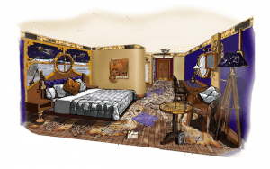Moon Voyager room concept art