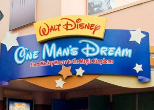 Walt Disney: One Man's Dream entrance