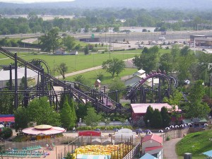 T2 rollercoaster at Kentucky Kingdom