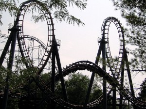 Vortex rollercoaster at Kings Island