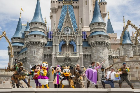 Friendship Faire Show in front of Cinderella Castle
