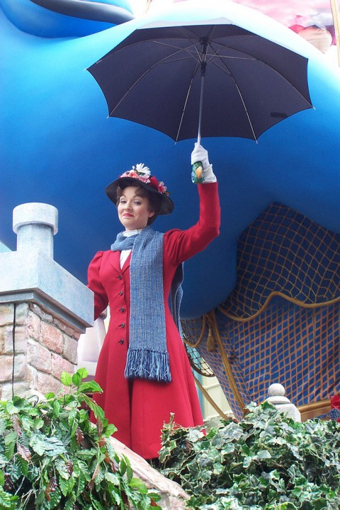 Mary Poppins with an umbrella