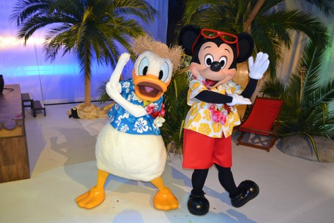 Mickey Mouse and Donald Duck meet-and-greet