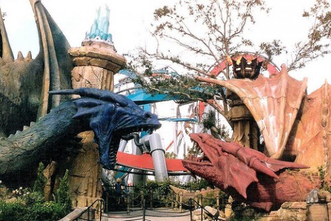 Dueling Dragons at Universal's Islands of Adventure's Lost Continent