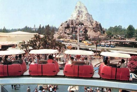 The PeopleMover at Disneyland