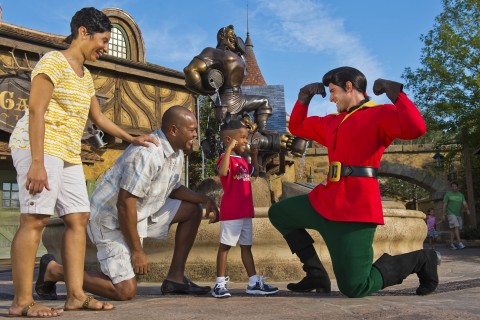 Little boy with Gaston