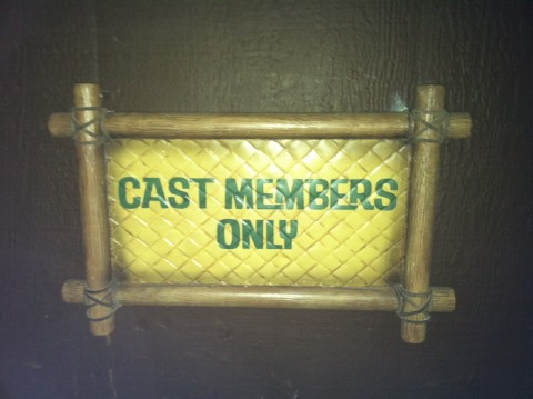 Cast Members Only Sign