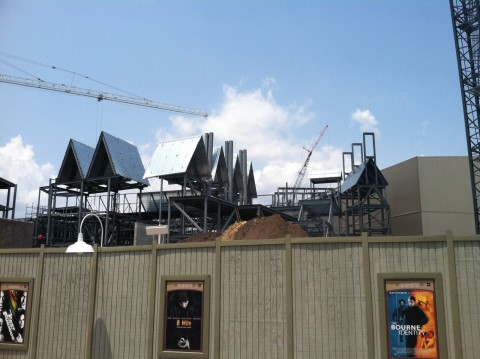 Construction of Diagon Alley in Universal Studios Florida