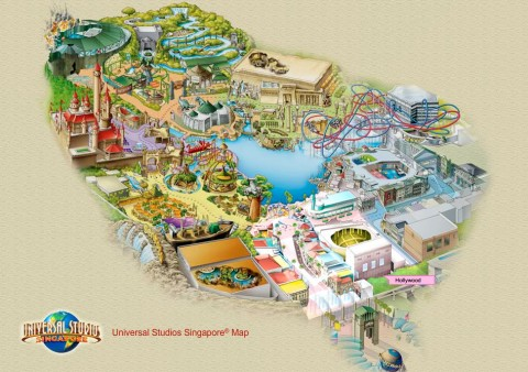 Universal Studios Singapore releases interactive park map