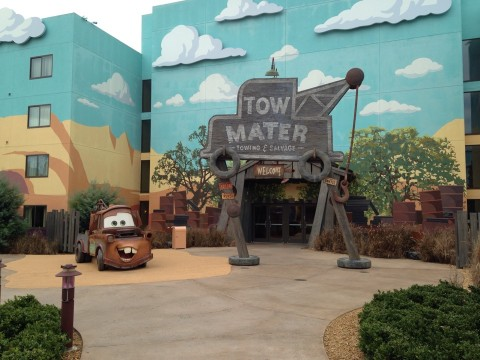 Tow Mater in Radiator Springs