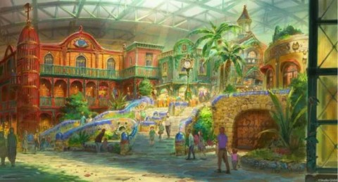 Concept art for Ghibli Park