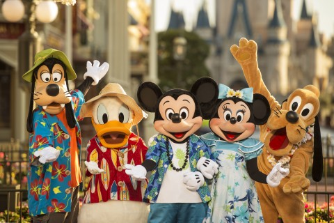 Mickey and Friends in vacation attire