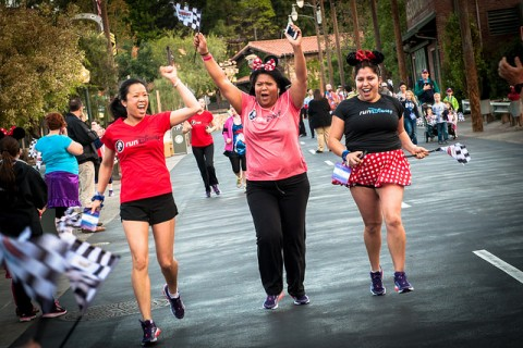 Women Disneybounding during RunDisney event
