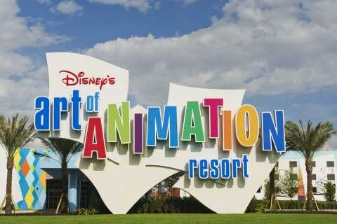 Art of Animation Hotel Sign
