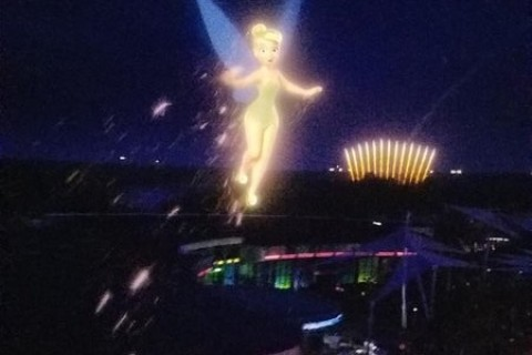 Tinker Bell in Soarin at Epcot