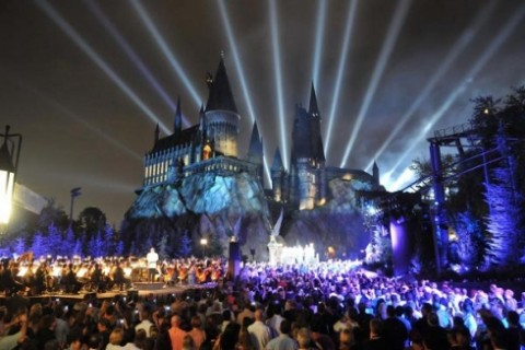 Hogwarts Castle at night