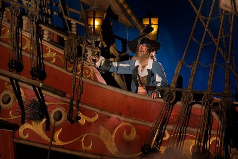 Captain Barbosa in Pirates of the Caribbean