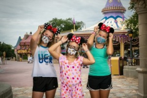 Mask wearing, Disney