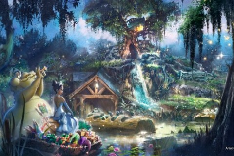 Princess and the frog, splash mountain Disney