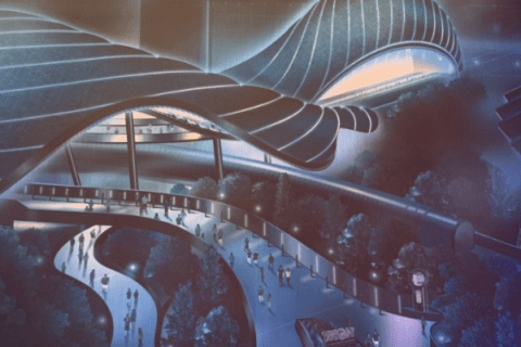 Concept art, Tron, Magic Kingdom