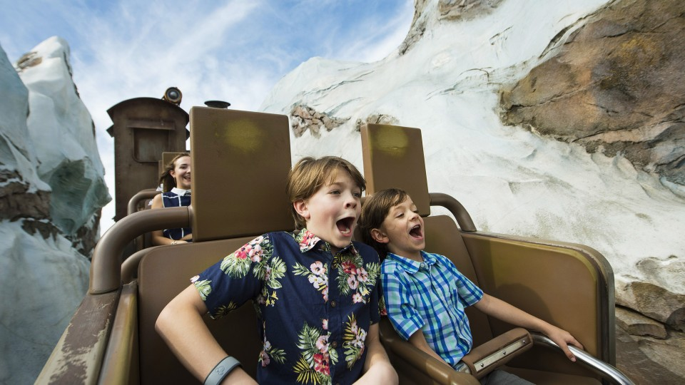 Two boys (from the cast of Pete's Dragon) on Expedition: Everest