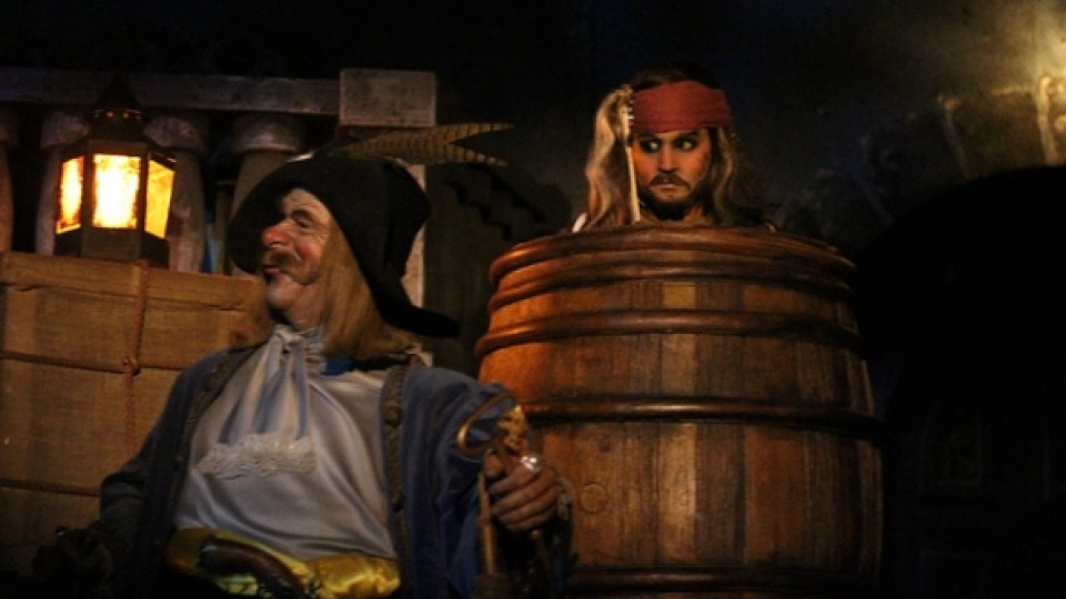 Jack Sparrow in barrel