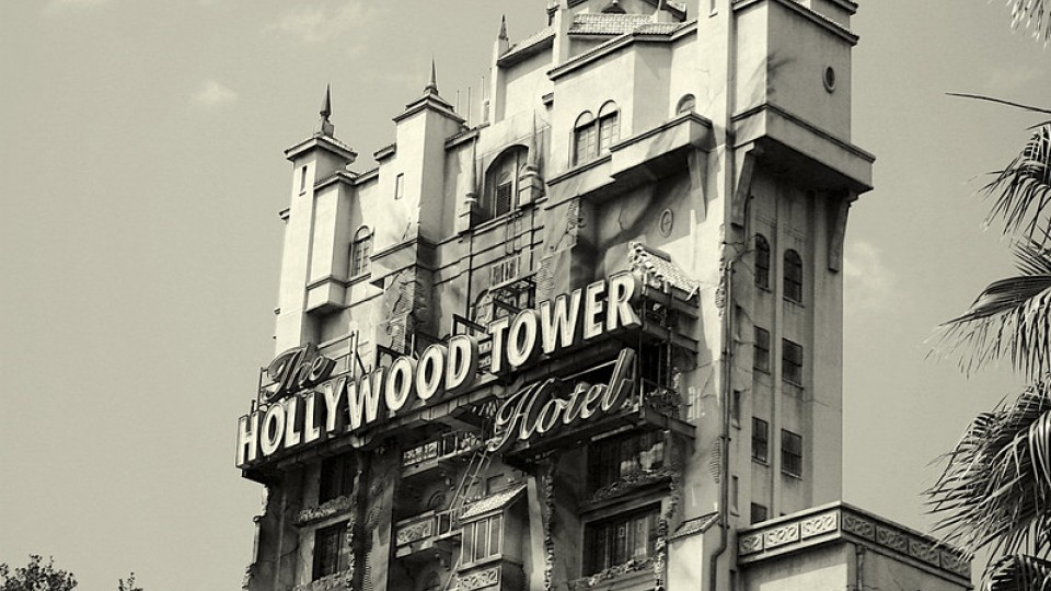 Tower of Terror in black and white