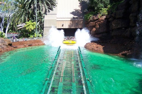 Jurassic Park Ride, Universal Studios Hollywood.