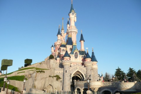 Sleeping Beauty Castle Disneyland Paris. Theme Park Tourist