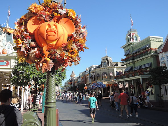 Magic Kingdom Fall Decor