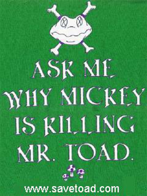 Save Toad T-shirt Image (c) savetoad.com
