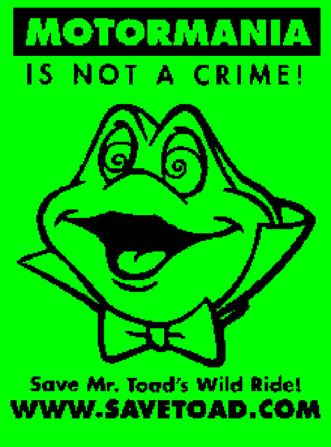 Save Toad Flyer Image (c) savetoad.com