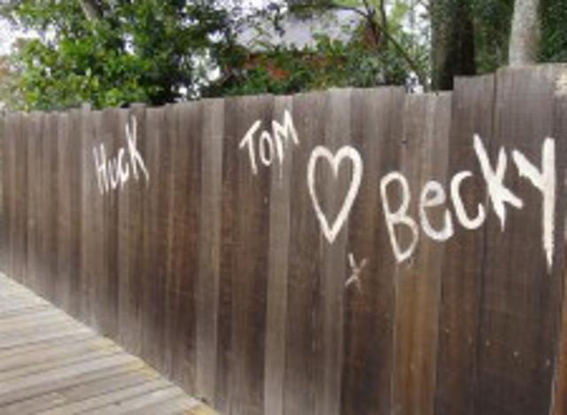 Whitewashed Fence