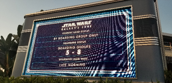 Galaxy's Edge Boarding Pass Announcement Board