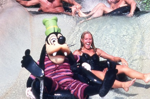 Goofy on White Water Rapids